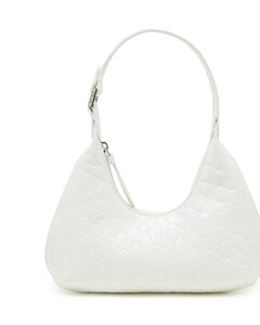 Baby Amber croco embossed leather bag