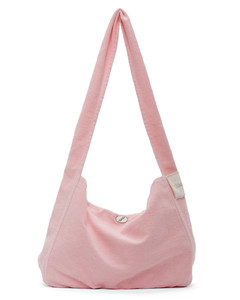 粉色帆布单肩包
