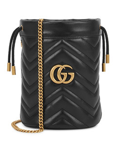 GG Marmont mini leather bucket bag