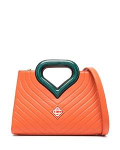 Medium Everyday Grain Leather Shoulder Bag in Ivory