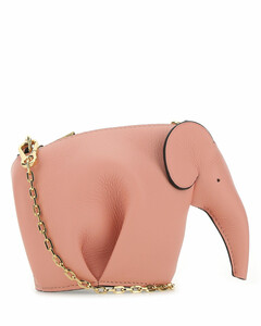 Pastel pink leather Elephant Pouch crossbody bag