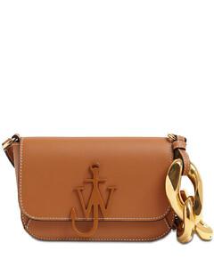 Midi Anchor Leather Shoulder Bag