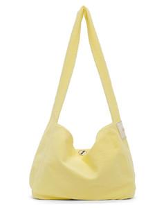 黄色帆布单肩包