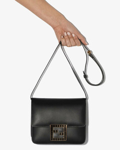 black Fab leather shoulder bag