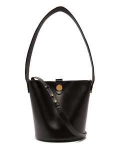 Swing leather bucket bag