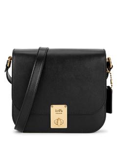 Hutton black leather cross-body bag