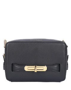 Handbag THE MYTH Calfskin Logo black