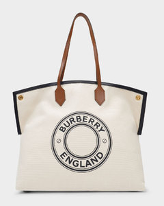 Lg Society Tote Bag in Brown Cotton