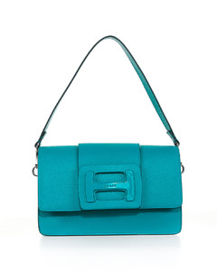 Mini Grained Leather Bag in Yellow