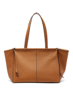 Cushion large grained-leather tote bag