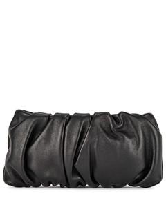 Bean black leather clutch
