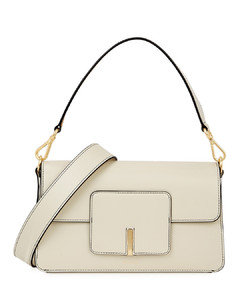 Georgia ivory leather top handle bag