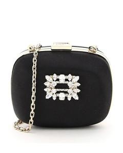 Broche Vivier Buckle Micro Clutch Bag