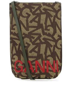 Pegaso shoulder bag in paisley leather