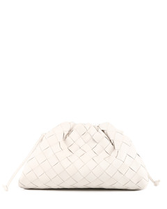 The mini pouch bag white