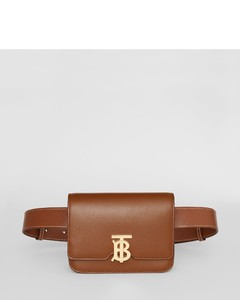 Belted Leather TB Bag