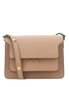 Biscuit leather Trunk shoulder bag Camel Marni Donna