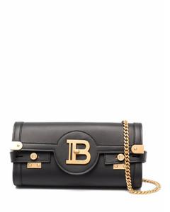 Powder blue leather handbag