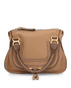 Handbag MARCIE M Calfskin Logo biege