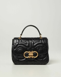 Gancini bag in quilted leather