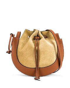 Horseshoe Bag in Brown,Neutral