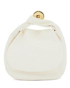 Sphere medium leather clutch bag