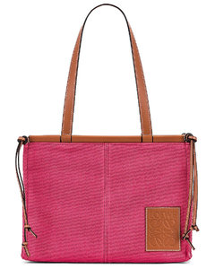 Cushion Tote Small Bag in Pink