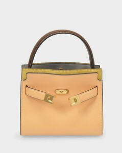 Lee Radziwill Petite Double Bag in Yellow Leather