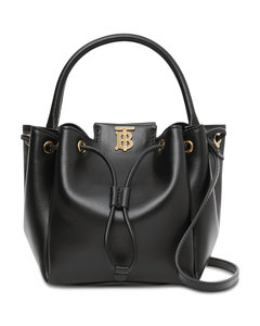 Leather TB Bucket Bag