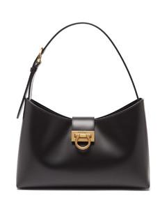 Trifolio leather shoulder bag