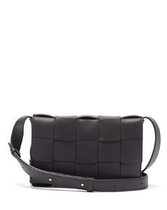 Cassette small Intrecciato leather cross-body bag