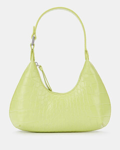 Women's Baby Amber Croco Bag - Matcha