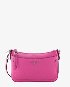 Kira Chevron Circle Bag in Camel Leather