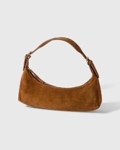 Mara Brown Suede Leather Bag