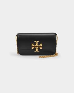 Eleanor Phone Bag in Black Leather