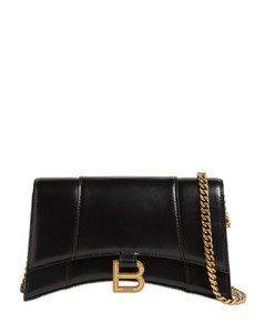 Hourglass Evening Leather Bag