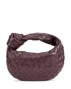 Jodie Intrecciato mini plum leather top handle bag