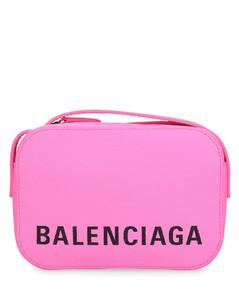 Handbag VILLE CAM BAG XS leather embossed logo pink