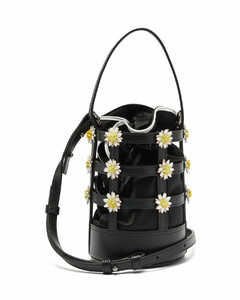 Miss Daisy leather and satin bucket bag