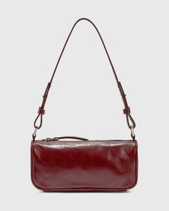 Eve Bordeaux Creased Leather Bag