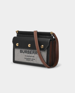 Baby Title Pocket Bag in Black Leither