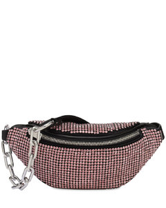 Mini Attica Rhinestone Mesh Belt Bag