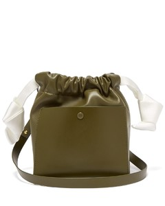 Knot leather crossbody bag