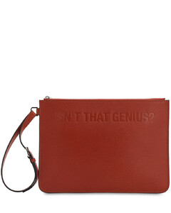 X Valextra Leather Pouch
