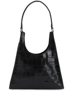 Rey Croc Embossed Leather Shoulder Bag
