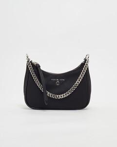 black star print drawstring bag