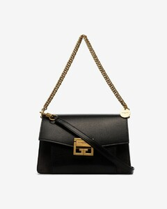 Black GV3 medium leather cross body bag