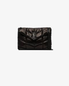 Black Loulou Puffer Quilted Shoulder Bag