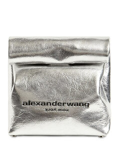 Metallic Leather Lunch Bag