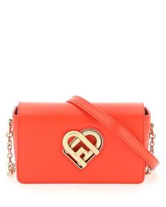 Handbag MARCIE M Calfskin logo green